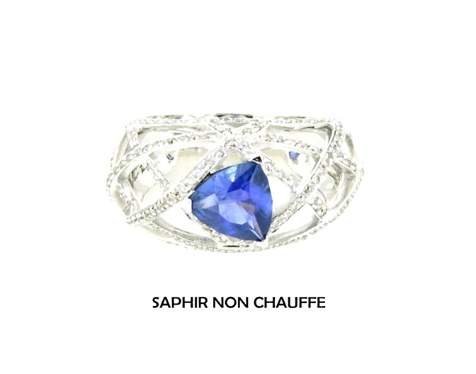 Bague Trillion Saphir
